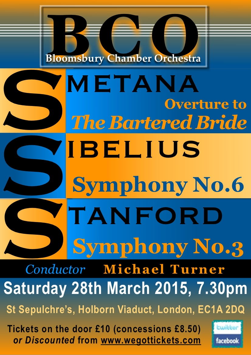 Bloomsbury Chamber Orchestra at St Sepulchre, High Holborn, Saturday 28th March 2015